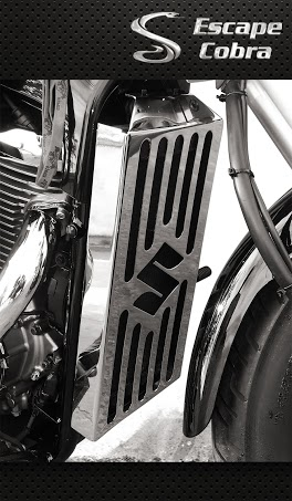 Protetor Radiador Cobra para Boulevard M800 Cromo  - Nova Suzuki Motos e Acessórios