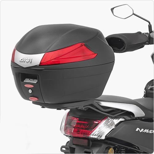 Rack + Base p/ Baús Givi Importados/Monolock de Yamaha N-Max-125 - (SR2123)  - Nova Suzuki Motos e Acessórios