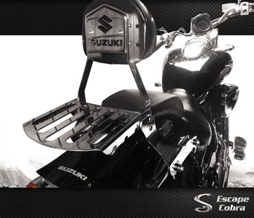 Encosto Sissy-bar destacável Boulevard M800 Cromo até 2011  - Nova Suzuki Motos e Acessórios