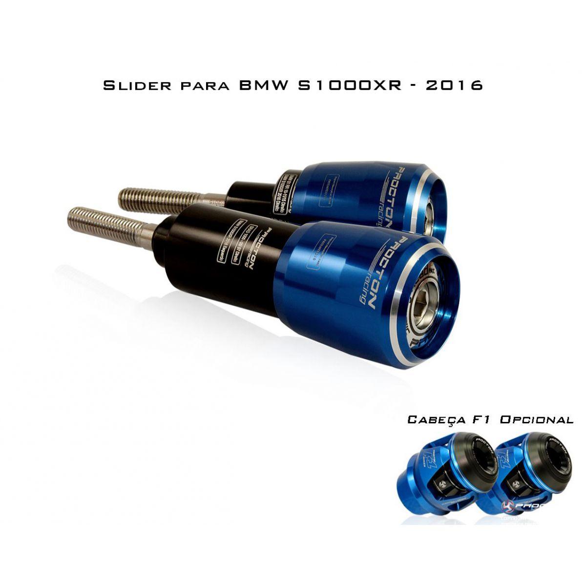 Slider Dianteiro Procton com Amortecimento p/ BMW S1000XR (15/17) - (ROLETADO)  - Nova Suzuki Motos e Acessórios