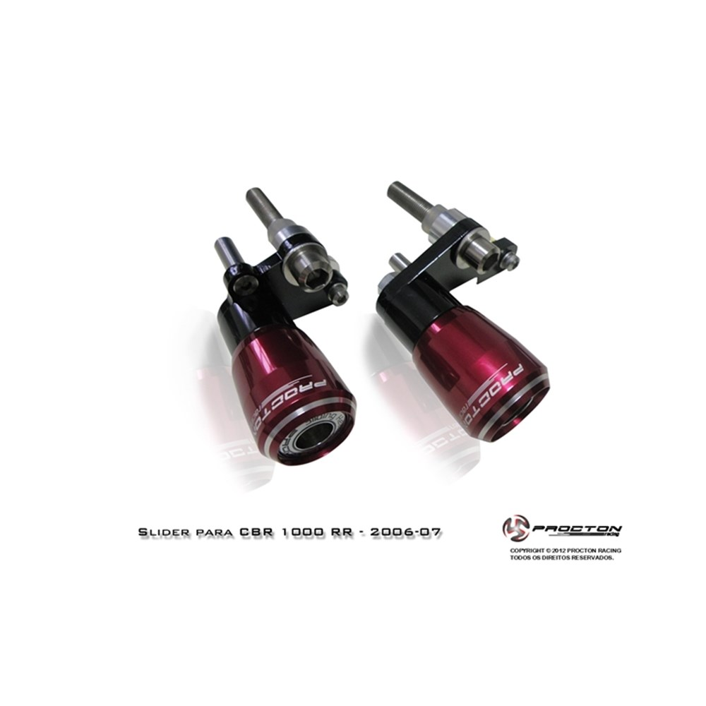 Slider Dianteiro Procton com Amortecimento p/ CBR1000RR 06/07  - Nova Suzuki Motos e Acessórios