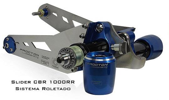 Slider Dianteiro Procton com Amortecimento p/ CBR1000RR 12/14  - Nova Suzuki Motos e Acessórios