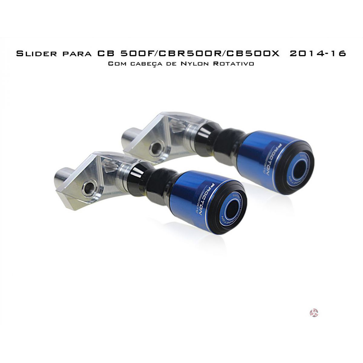 Slider Dianteiro Procton com Amortecimento p/ CBR 500R/CB 500F/CB 500X - 14/15 (NYLON ROTATIVO)  - Nova Suzuki Motos e Acessórios