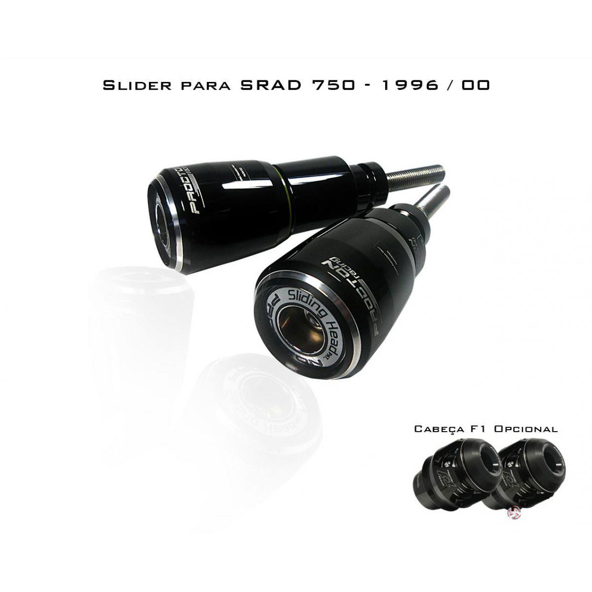 Slider Dianteiro Procton com Amortecimento p/ SRAD750 96/00  - Nova Suzuki Motos e Acessórios