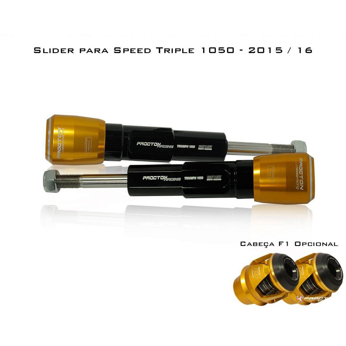 Slider Dianteiro Procton com Amortecimento p/ Street Triple 1050 15/16  - Nova Suzuki Motos e Acessórios