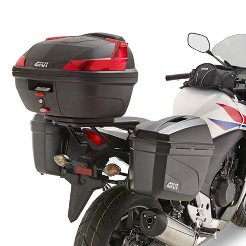 Suporte lateral Givi PL1119 p/ Honda CB500X (E21 e E22) - 13-14 (CONSULTE-NOS)  - Nova Suzuki Motos e Acessórios