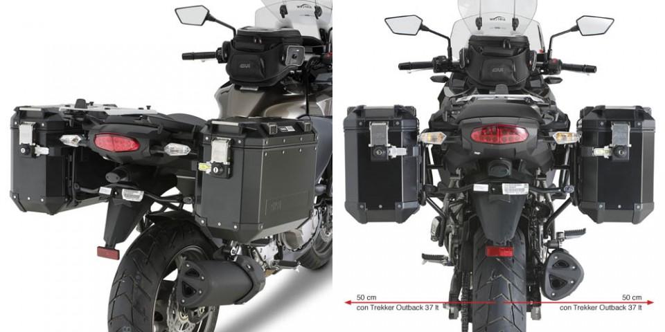 Suporte Lateral PL4105CAM Givi p/ baú Outback - Versys 1000 - 12-14 - Consulte-nos  - Nova Suzuki Motos e Acessórios
