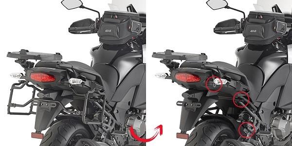 Suporte Lateral PLXR4113 Givi - Versys 1000 - 15-16 - (CONSULTE-NOS)  - Nova Suzuki Motos e Acessórios