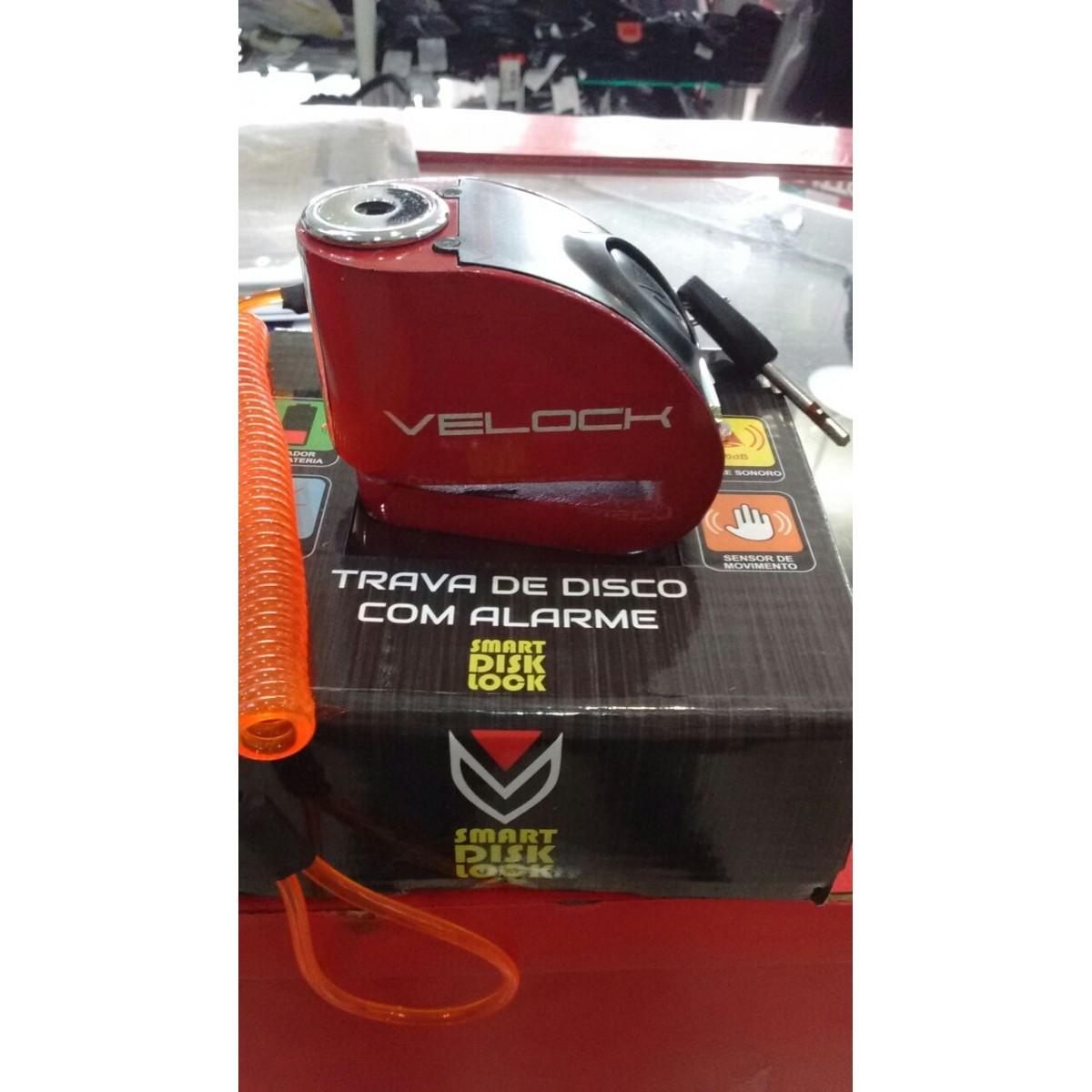 Trava de Disco com Alarme VELOCK  - Nova Suzuki Motos e Acessórios