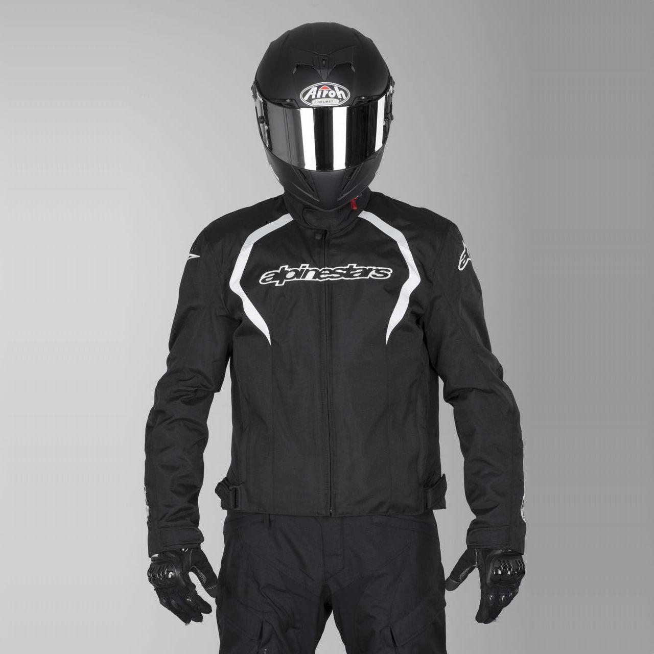 Jaqueta Alpinestars Fastback - Preto/Branco - Impermeável  - Super Bike - Loja Oficial Alpinestars