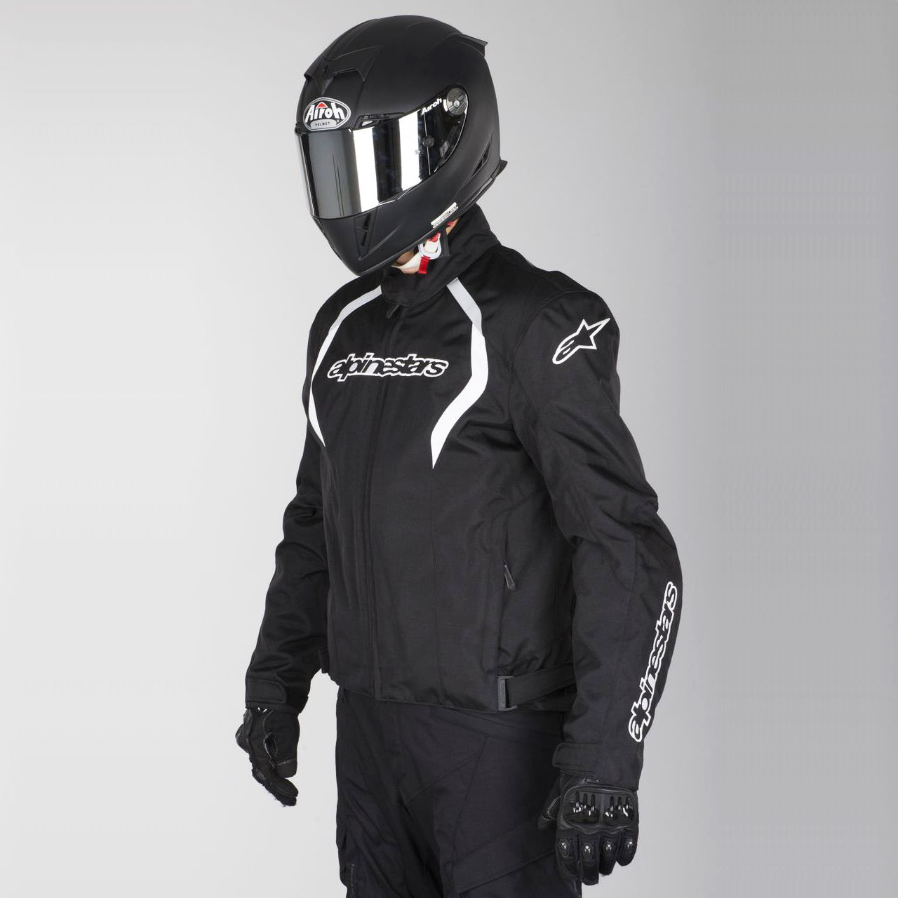 0 Jaqueta Alpinestars Fastback WP (Black and White/ Impermeável)  - Super Bike - Loja Oficial Alpinestars