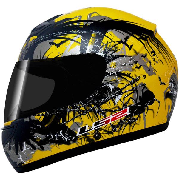 Capacete LS2 FF350 Phobia Amarelo  GANHE BALACLAVA  - Super Bike - Loja Oficial Alpinestars