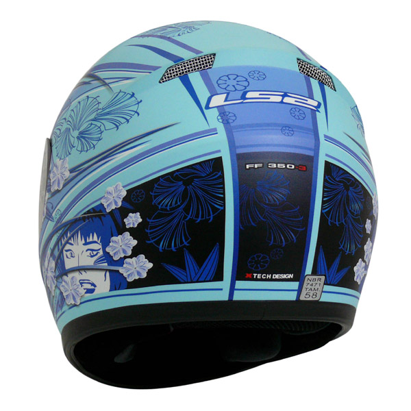 Capacete LS2 FF350 Stardust - Azul - Feminino  - Super Bike - Loja Oficial Alpinestars