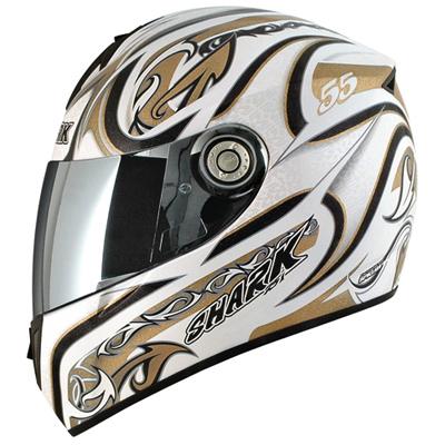 Capacete Shark RSI Laconi Branco c/ dourado WKW  - Super Bike - Loja Oficial Alpinestars