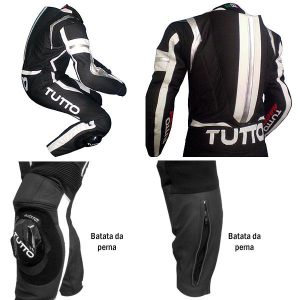 Macacão Tutto Moto Terminator (Branco ou Vermelho)  - Super Bike - Loja Oficial Alpinestars