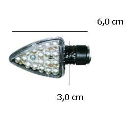 Pisca Emgo em Led Arrow Carbono Lente Transp. (Universal)  - Super Bike - Loja Oficial Alpinestars