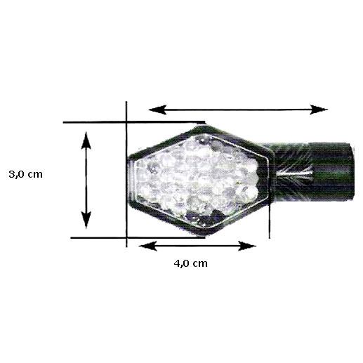 Pisca Emgo em Led Diamond Carbono Lente Transp. (Universal)  - Super Bike - Loja Oficial Alpinestars