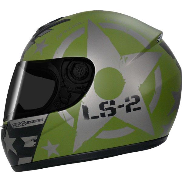 Capacete LS2 FF350 Combat Verde - GANHE BALACLAVA  - Super Bike - Loja Oficial Alpinestars