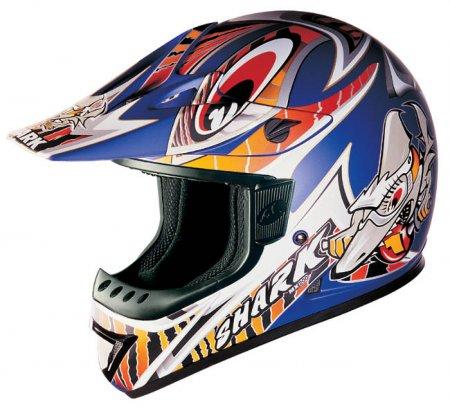 Capacete Shark MX200 Furios Azul - Cross  - Super Bike - Loja Oficial Alpinestars