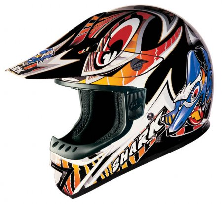 Capacete Shark MX200 Furious Preto - Cross  - Super Bike - Loja Oficial Alpinestars