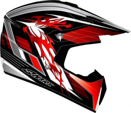 Capacete Shark SXR Crew Line Vermelho - Cross  - Super Bike - Loja Oficial Alpinestars