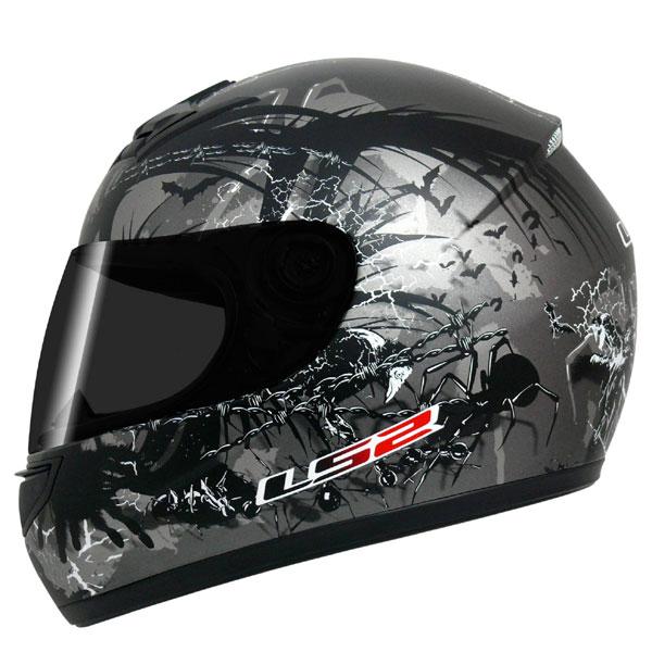 Capacete LS2 FF350 Phobia Cinza escuro GANHE BALACLAVA  - Super Bike - Loja Oficial Alpinestars