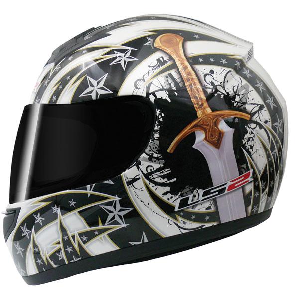 Capacete LS2 FF350 Cutt Throat Branco - GANHE BALACLAVA  - Super Bike - Loja Oficial Alpinestars