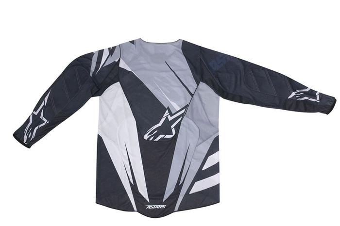 Camisa Alpinestars Techstar - Cinza e Preto  - Super Bike - Loja Oficial Alpinestars