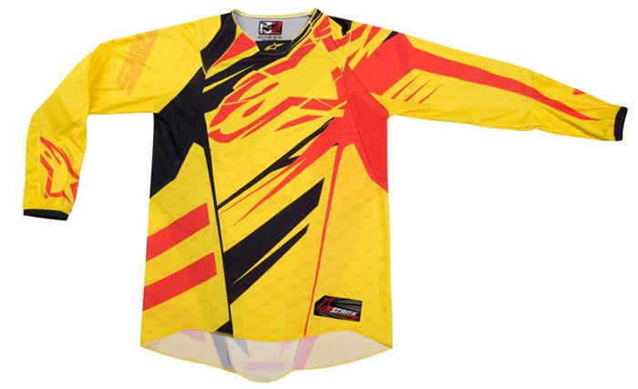 Camisa Alpinestars Techstar - Amarelo e Vermelho  - Super Bike - Loja Oficial Alpinestars