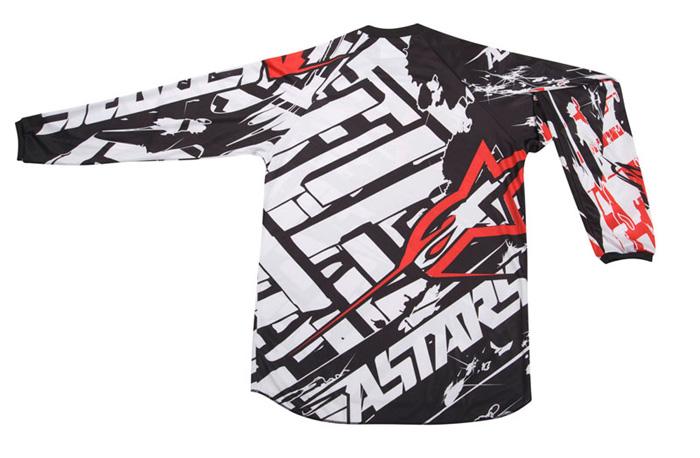 Camisa Alpinestars Charger Blokz - Preta e Branca  - Super Bike - Loja Oficial Alpinestars
