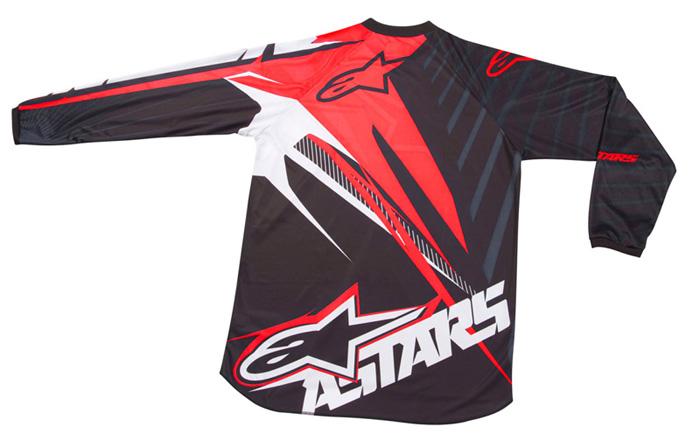 Camisa Alpinestars Charger Spiker - Vermelho e Preto  - Super Bike - Loja Oficial Alpinestars