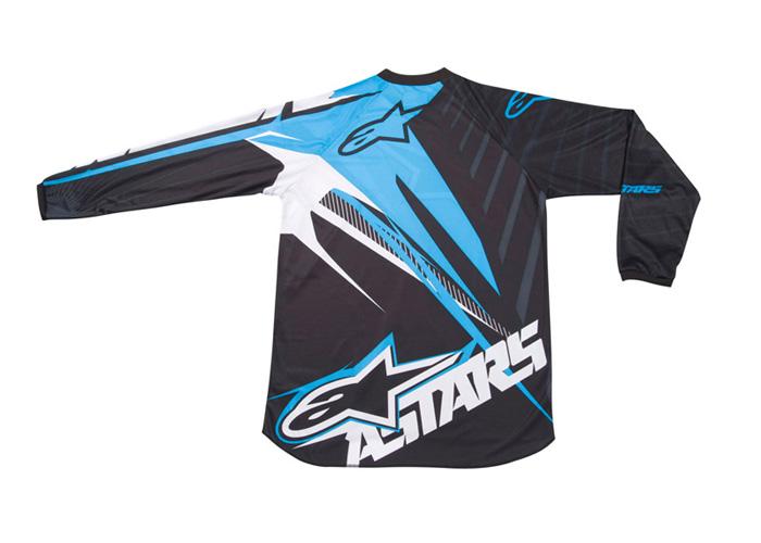 Camisa Alpinestars Charger Spiker - Azul e Preto  - Super Bike - Loja Oficial Alpinestars