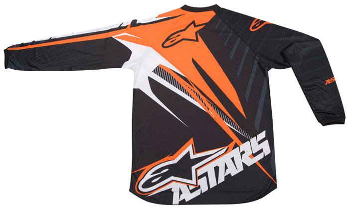 Camisa Alpinestars Charger Spiker - Laranja e Preto  - Super Bike - Loja Oficial Alpinestars