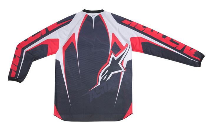 Camisa Alpinestars Racer Tech - Vermelho e Preto  - Super Bike - Loja Oficial Alpinestars