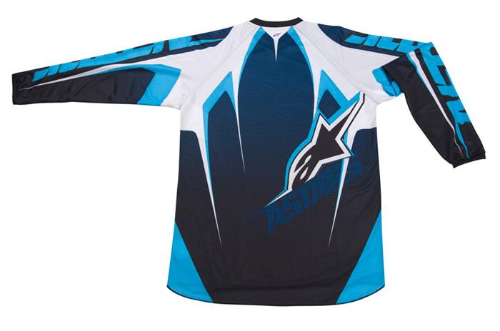 Camisa Alpinestars Racer Tech - Azul e Preto  - Super Bike - Loja Oficial Alpinestars
