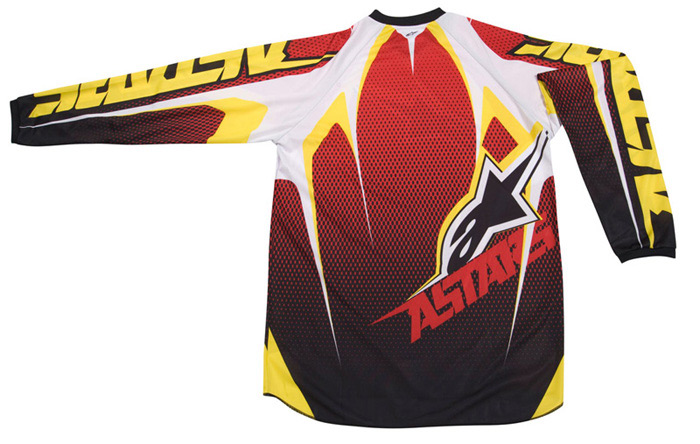 Camisa Alpinestars Racer Tech - Amarelo e Vermelho  - Super Bike - Loja Oficial Alpinestars