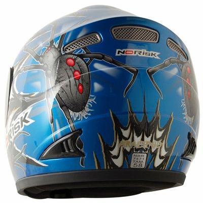 Capacete No-Risk FF336 Arachnid - Azul (NOVO MODELO)  - Super Bike - Loja Oficial Alpinestars