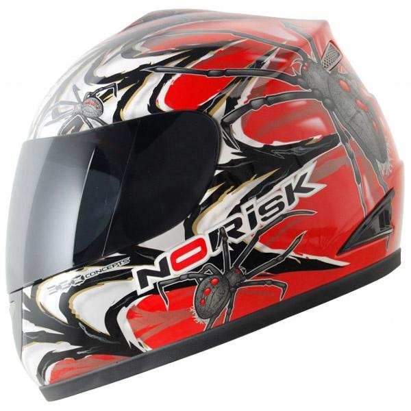 Capacete No-Risk FF336 Arachnid - Vermelho (NOVO MODELO)  - Super Bike - Loja Oficial Alpinestars
