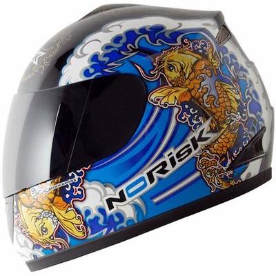 Capacete No-Risk FF336 Koi - Azul (NOVO MODELO)  - Super Bike - Loja Oficial Alpinestars