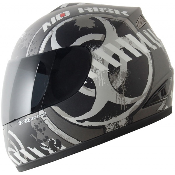 Capacete No-Risk FF336 Biohazard - Cinza (NOVO MODELO)  - Super Bike - Loja Oficial Alpinestars