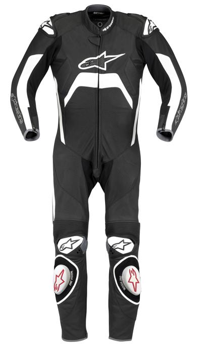 Macacão Alpinestars Tech1-R - 1 peça - Preto  - Super Bike - Loja Oficial Alpinestars