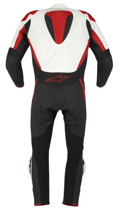 Macacão Alpinestars Tech1-R - 1 peça - Branco c/ Vermelho  - Super Bike - Loja Oficial Alpinestars