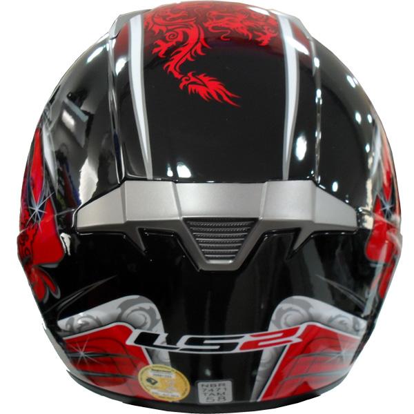 Capacete LS2 MX433 Caos Vermelho  - Super Bike - Loja Oficial Alpinestars