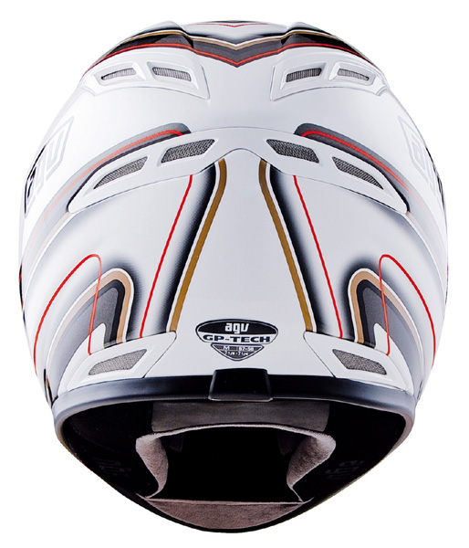 Capacete AGV GP-TECH Stripes White  - Super Bike - Loja Oficial Alpinestars