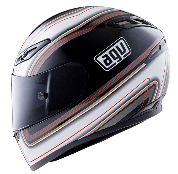 Capacete AGV GP-TECH Stripes Black  - Super Bike - Loja Oficial Alpinestars