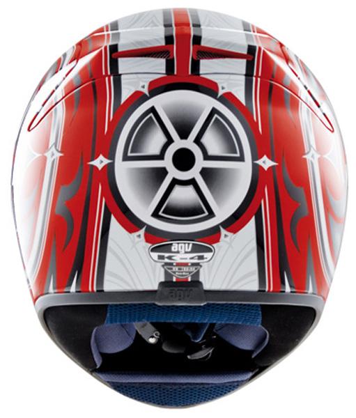 Capacete AGV K-4 Vyrus Red-Silver   - Super Bike - Loja Oficial Alpinestars
