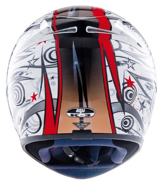 Capacete AGV K-3 Asymmetry Red - Ganhe Balaclava  - Super Bike - Loja Oficial Alpinestars