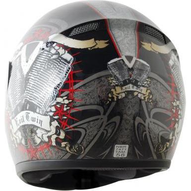 Capacete LS2 FF350 Evil Twin Vermelho - GANHE BALACLAVA  - Super Bike - Loja Oficial Alpinestars