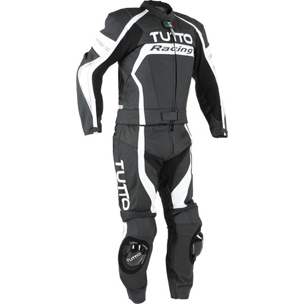 Macacão Tutto Moto Racing 2 pçs Branco c/ Prata  - Super Bike - Loja Oficial Alpinestars