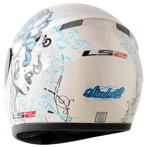 Capacete LS2 FF350 Stardust2 Br/Azul - Feminino - Sob encomenda  - Super Bike - Loja Oficial Alpinestars